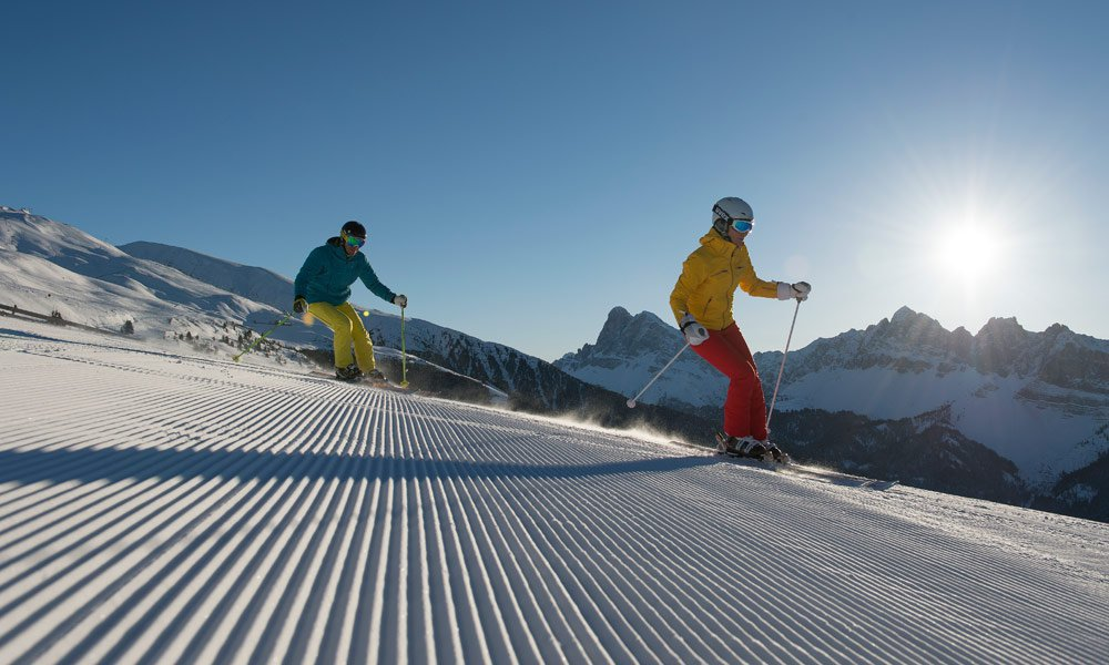 On the slopes, …. ready, steady, go: 40 km of ski fun.